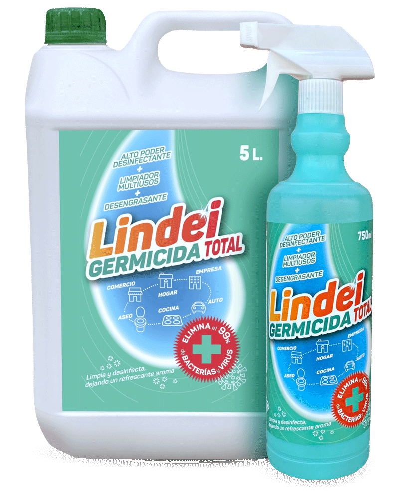 Lindei: desinfectante, germicida y virucida que elimina el 99,9% de gérmenes, incluidos virus encapsulados tipo Covid-19